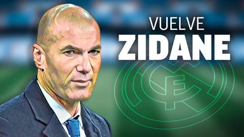 Zidane trở lại Real Madrid vì tình yêu với đội bóng